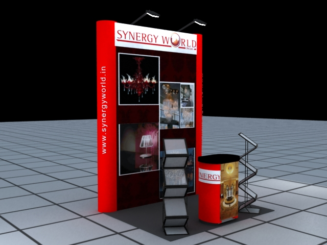 Portable Exhibition Stall Bangalore : Popup stand portable exhibition kit