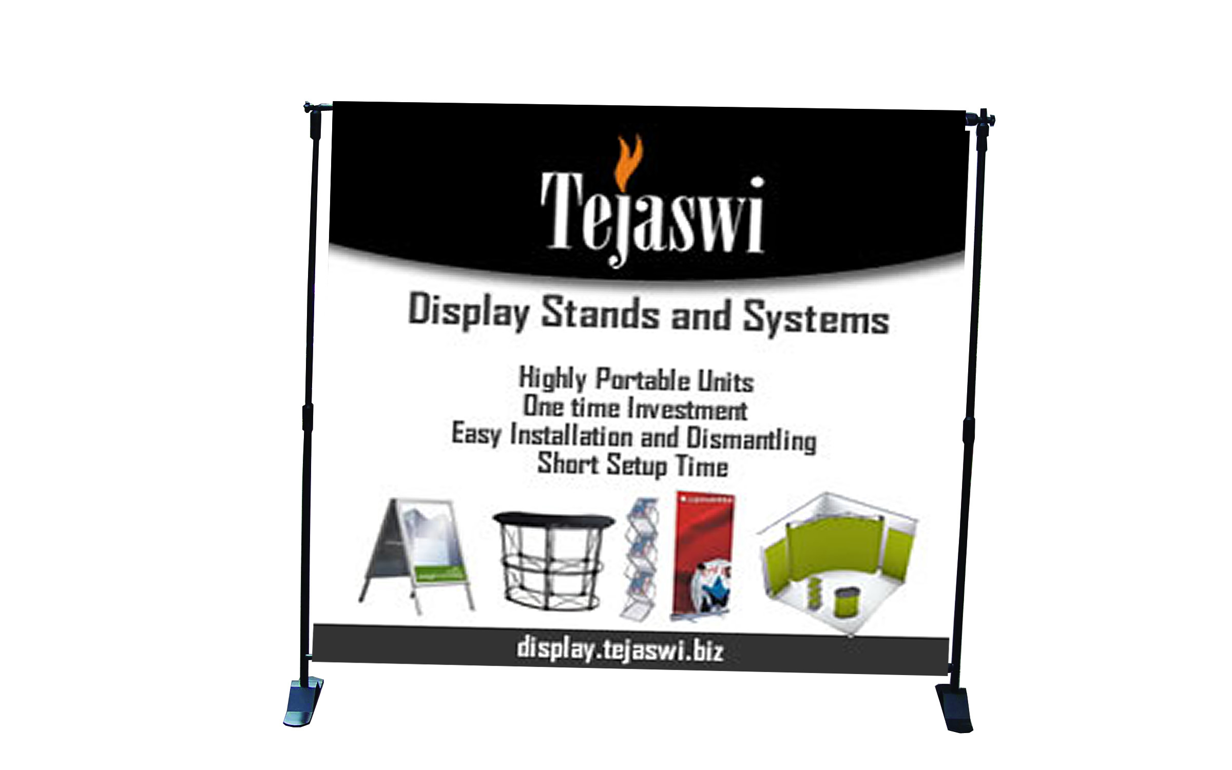 Adjustable backdrop tejaswi